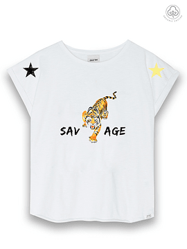 DEAR TEE | Polera Tigre Estrellas