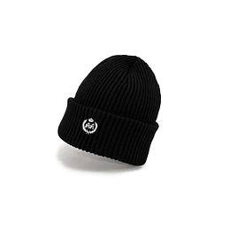 Gorro Double AA - Chunky Knit Black Beanie