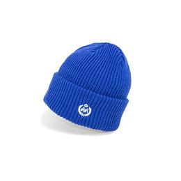 Gorro Double AA - Chunky Knit Blue Beanie