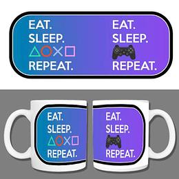 Tazón Eat. Sleep. Playstation. Repeat.