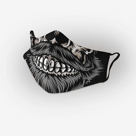 Cubre Boca calavera Barba