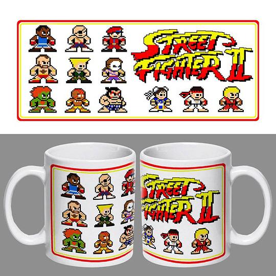 Tazón Retro Street Fighter II