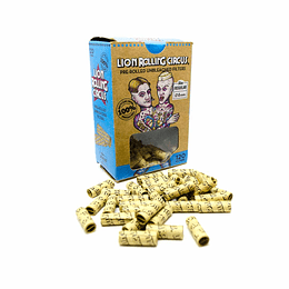 Lion Rolling Circus Filtros Unbleached Pre-Rolled