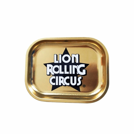 Lion Rolling Circus bandeja small golden