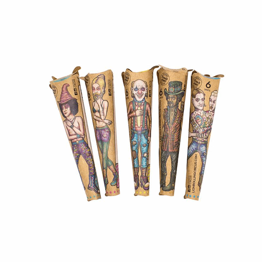 Lion Rolling Circus Cono Unbleached (6u) 1 1/4
