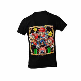 Polera Super Mario Bros 35 años