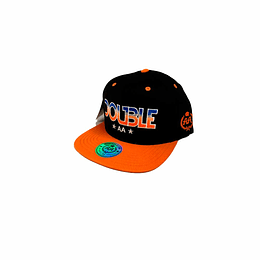 Gorra Snapback Double AA Black/Orange - Double AA