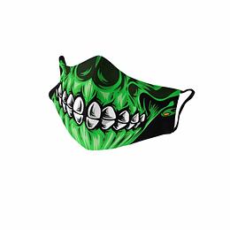 Cubre Boca Calavera verde