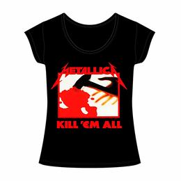 Polera Mujer Metallica Kill 'Em All