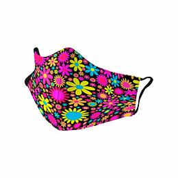 Cubre Boca Mujer Flores