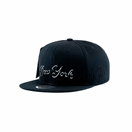 Gorra Snapback Double AA - New York Black
