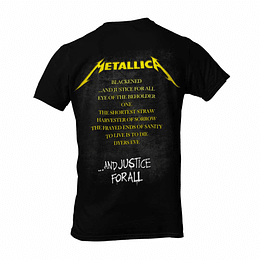 Polera Metallica - And justice for all