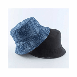 Bucket Hat Reversible Blue