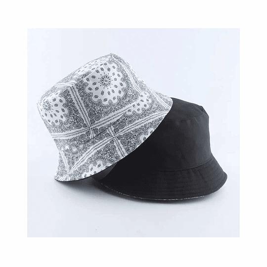 Bucket Hat Reversible White