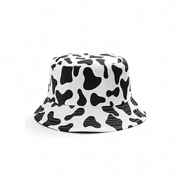 Bucket Hat Reversible - Cow