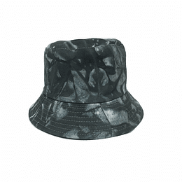 Bucket Hat Reversible  - Black/White-Gray Tie Dye