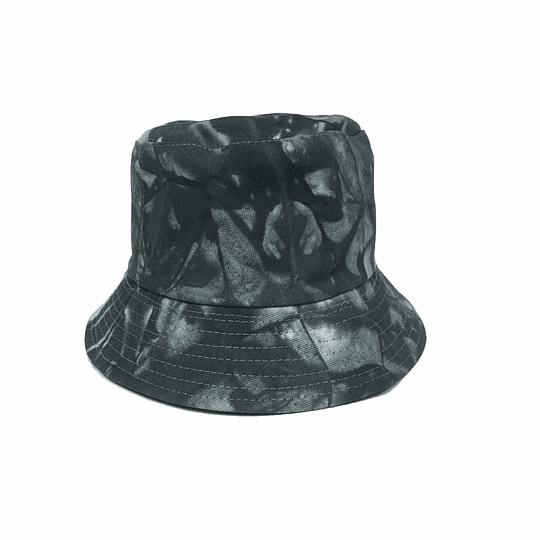 Bucket Hat Reversible  - Black/White-Gray Tie Dye
