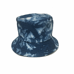 Bucket Hat Reversible - Blue/White-Blue Tie Dye
