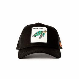 Jockey Tortuga Verde Algodón Orgánico Negro