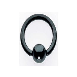 Ball Closure Aro Negro 1,2 mm