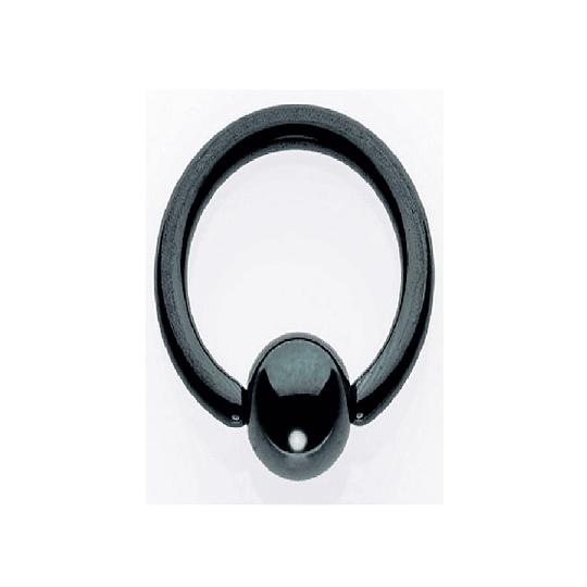 Ball Closure Aro Negro 1,6 mm