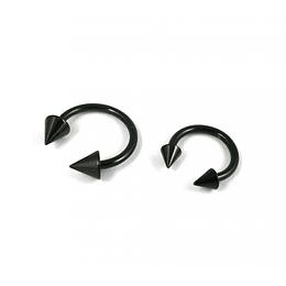 Circular Barbell Negro Conos - 1,2 mm