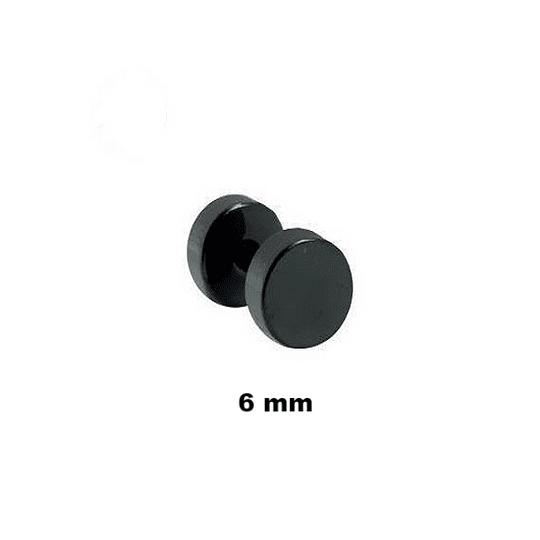 Falso Plug - Acero Negro - 6mm