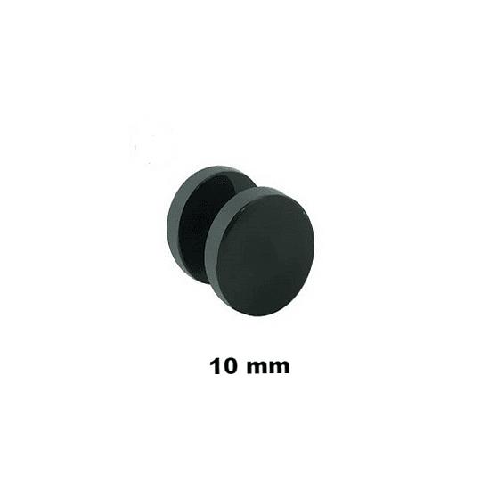 Falso Plug - Acero Negro - 10mm