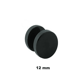 Falso Plug - Acero Negro - 12mm