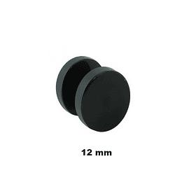 Falso Plug - Acero Negro - 12mm