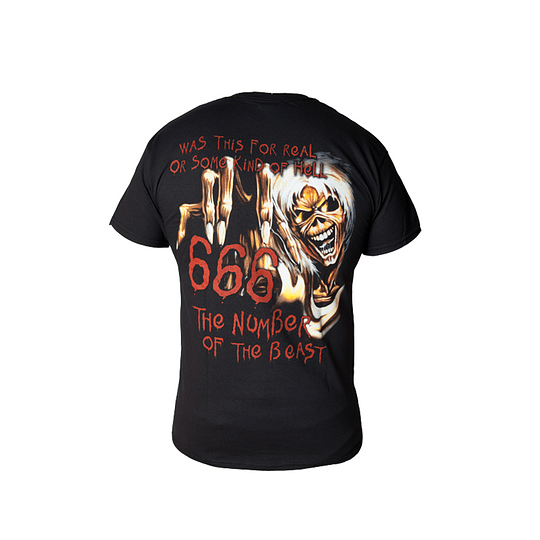 Polera Iron Maiden - The number of the beast