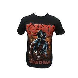 Polera Kreator - Satan is real