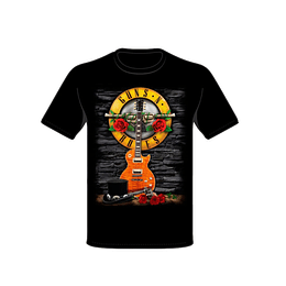 Polera Guns N´ Roses Guitar & Hat