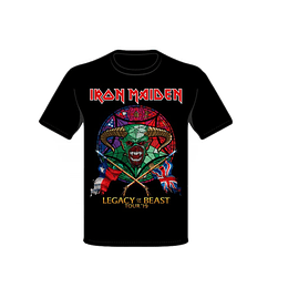 Polera Iron Maiden Legacy of the beast tour 2019