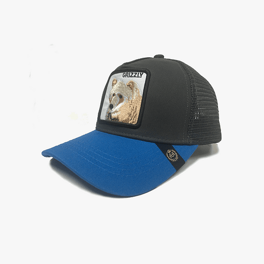 Gorro Trucker Animales Oso Grizzly