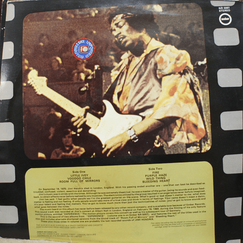 "Jimi Hendrix ‎– Motion Picture ""Experience"" vol.1 + vol.2"