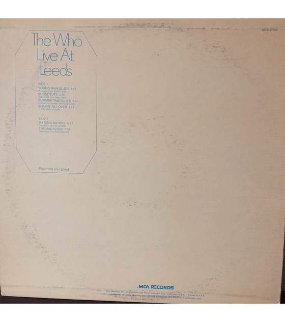 The Who ‎– Live At Leeds