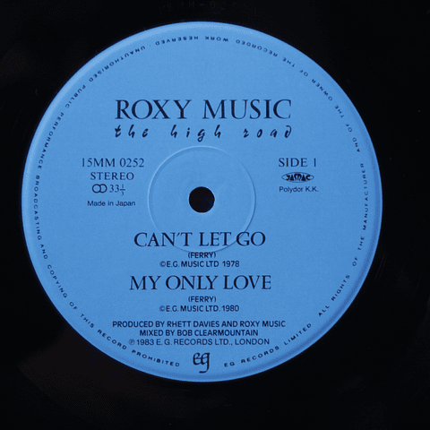 Roxy Music ‎– The High Road (Ed Japón OBI)