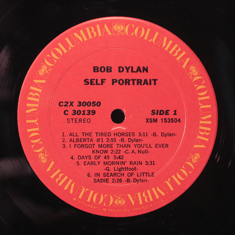 Bob Dylan ‎– Self Portrait (1a ED USA)