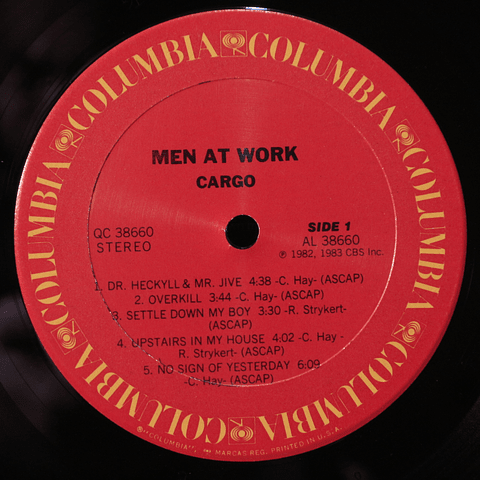 Men At Work ‎– Cargo