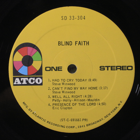 Blind Faith (Eric Clapton) ‎– Blind Faith (1a Ed USA)