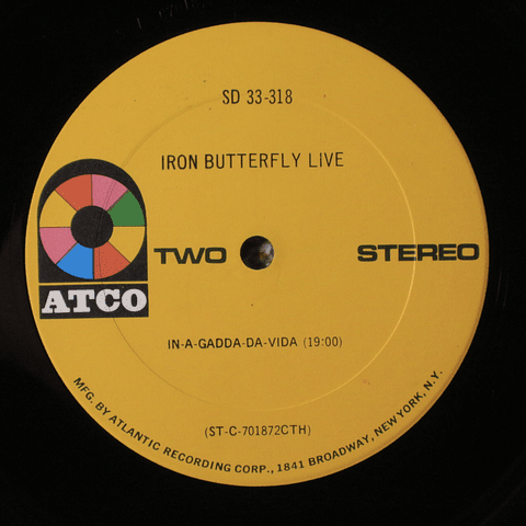 Iron Butterfly ‎– Live (1a Ed USA)