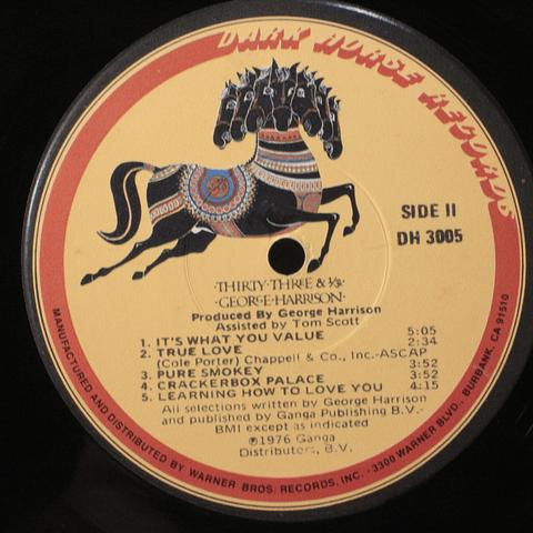 George Harrison – Thirty Three & 1/3