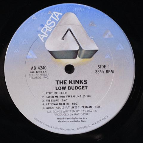 Kinks, The – Low Budget (1a ED USA)