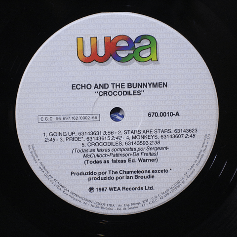 Echo And The Bunnymen ‎– Crocodiles