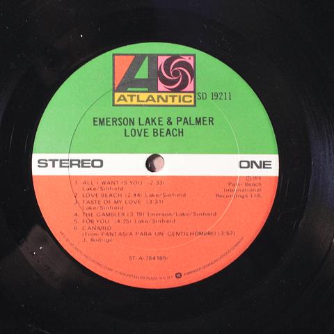 Emerson, Lake & Palmer – Love Beach (1a Ed USA)