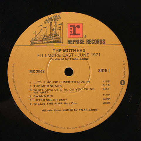 Frank Zappa and The Mothers ‎– Fillmore East - June 1971 (Ed USA)