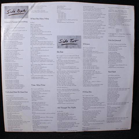 Cyndi Lauper – She's So Unusual (1a Ed USA)