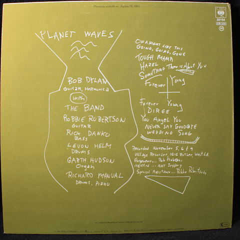 Bob Dylan & The Band – Planet Waves