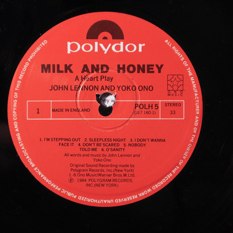 John Lennon (Beatles) And Yoko Ono ‎– Milk And Honey